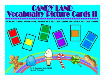 CANDY LAND PICTURE BUNDLE for VOCABULARY (School Items, Furniture & Appliances)