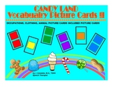 CANDY LAND PICTURE CARDS BUNDLE for VOCABULARY (Occupations, Clothing & Animals)