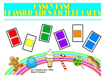 SPEECH THERAPY CANDY LAND PICTURE CARDS for CLASSIFICATION