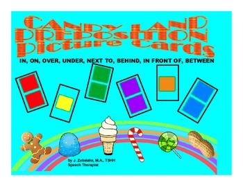 SPEECH THERAPY CANDY LAND PICTURE CARDS for PREPOSITIONAL