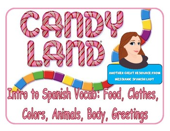 CANDY LAND Spanish (level intro) Basic Vocab for Beginners
