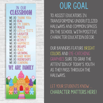 CANDYLAND - Classroom Decor: X-LARGE BANNER, We Are Family