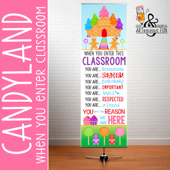 candyland classroom decor x large banner when you enter this classroom