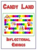 CANDYLAND Inflectional Word Endings - ELA First Grade Game - Word Work Center