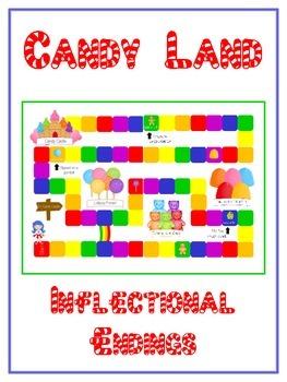 CANDYLAND Inflectional Word Endings - ELA First Grade Game