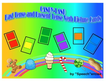 SPEECH THERAPY CANDYLAND PICTURE CARDS: PAST TENSE AND PRE