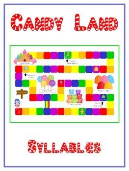 CANDYLAND Syllables - ELA First Grade Folder Game - Word W