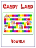 CANDYLAND Vowels- ELA First Grade Folder Game - Word Work Center