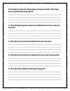 CAN'T YOU MAKE THEM BEHAVE, KING GEORGE? - Comprehension & Text Evidence