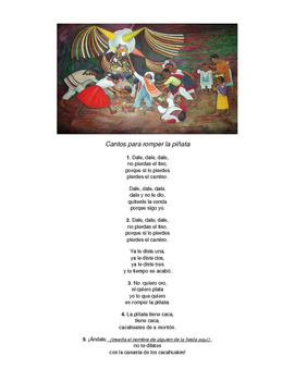 CANTOS PARA LA PIÑATA - What you sing when you have a pinata