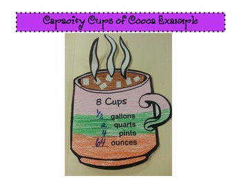 CAPACITY Cups of Cocoa Craftivity (CCSS Aligned)
