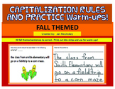 CAPITALIZATION RULES AND WARM-UP:  Fall Themed