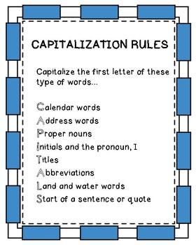 CAPITALS Capitalization Unit