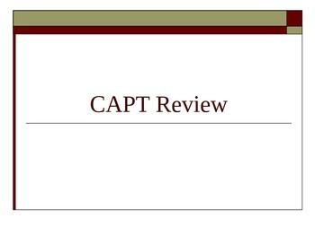 CAPT Review/Prep PoerPoint