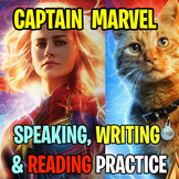 CAPTAIN MARVEL movie worksheet! Reading, grammar, speaking