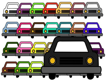 CAR CLIP ART * COLOR AND BLACK AND WHITE