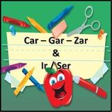 CAR GAR ZAR y los verbos IR-SER