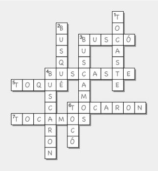 CAR Preterit Crossword for Students of Spanish