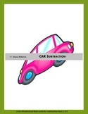 CAR Subtraction - flash cards