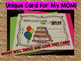 Mother's Day Card Activities - Pre-k - 3rd Grade