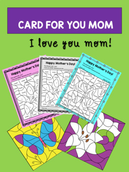 Mother's Day Activity - Choose a Color for Each Word