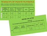 CARD SORT DIVISION OF MIXED NUMBERS/FRACTIONS - FLUENCY