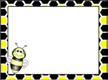 Bees EDITABLE Spring Card Templates
