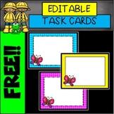 FREE EDITABLE Spring Card Templates