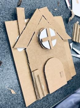 CARDBOARD GINGERBREAD ART HOUSES w/ video link (+STEM / STEAM options)!