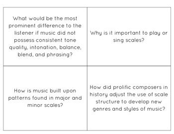 CARDS Music ECE-6th Grade Inquiry Questions (CDE Music Standards)