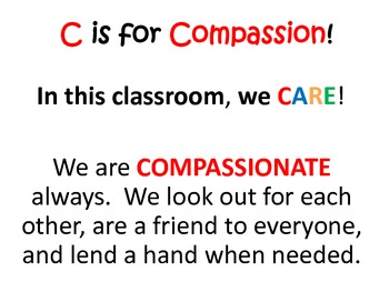 CARE Classroom Rules Posters and Class Signature Page
