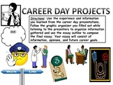 CAREER DAY BUNDLE (graphic organizers, essay outline, grading rubric, and more)