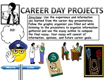 CAREER DAY BUNDLE (graphic organizers, essay outline, grad
