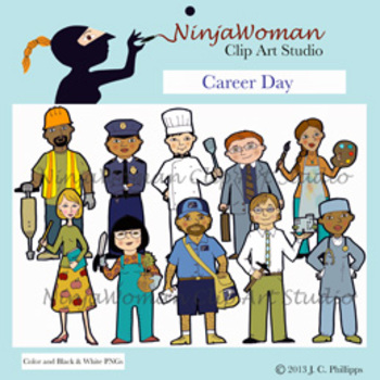 Career Day Clip Art By Ninjawoman Clip Art Studio Tpt