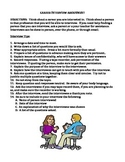 CAREER PLANNING:  INTERVIEW PROJECT (GRADES 6 - 8)