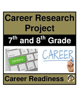 CAREER / JOB RESEARCH PROJECT- MIDDLE SCHOOL-7TH AND 8TH GRADE- CAREER READINESS