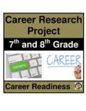 Career Research Project - Middle School-7th & 8th Grade l Distance Learning