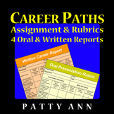 CAREER JOB PATHS Assignment & Rubrics Oral & Written Reports Readiness ACTIVITY!