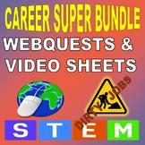 CAREER SUPER BUNDLE (45 Webquests / 45 Video Worksheets)