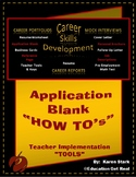 "CAREERS & JOB SKILLS - Sect 4 (Part 2) - ""Application Blank"""