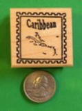 CARIBBEAN Country/Passport Rubber Stamp