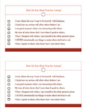 CARING Character Counts Ed Student Self-Assessment Half-Page WORKSHEET