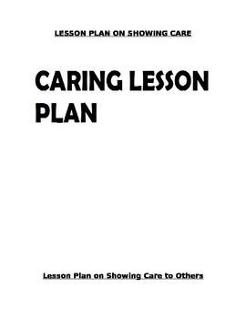 CARING LESSON PLAN