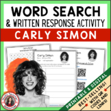 CARLY SIMON Word Search and Research Activity for Middle S