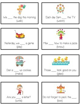 CARNIVAL Inflectional Word Endings - ELA First Grade Game - Word Work Center