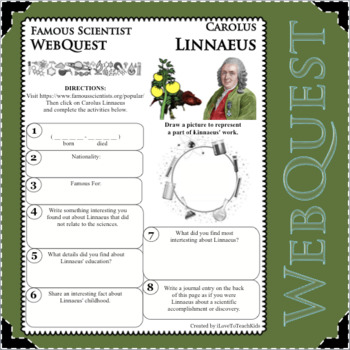 CAROLUS LINNAEUS - WebQuest in Science - Famous Scientist - Differentiated