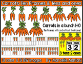 Place value clipart & ten frames-Counting Carrots clipart