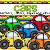 Cars Centers - Numbers, Letters, Shapes, Colors