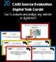Evaluating Sources and Research Skills Task Cards: CARS Source Evaluation