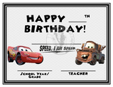 CARS Lightning McQueen & Mater Happy Birthday - Birthday C